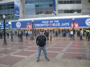 Outside Rogers Center, home of the Toronto Blue Jays