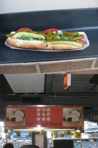 A Chicago-style Comiskey Dog vs Wow Bao Hot Asian Buns