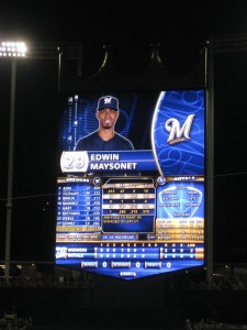 "The ""Crown Vision"" screen at Kauffman Stadium"