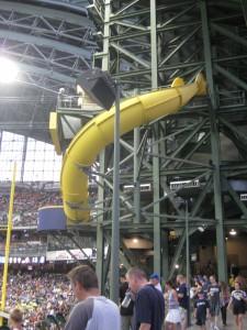 Bernie Brewer's home run slide