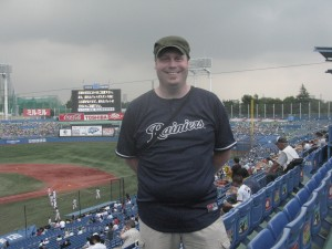 Joseph at Jingu Stadium